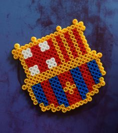 Items similar to Barça hama beads magnet on Etsy