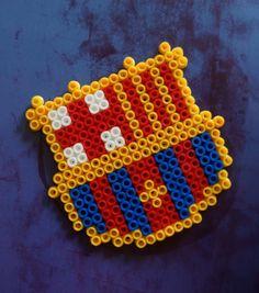 Items similar to Barça hama beads magnet on Etsy