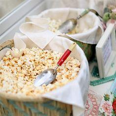 Popcorn Bar--I really like this idea