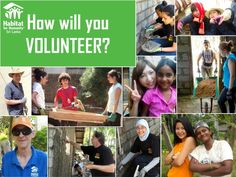 How will you volunteer?