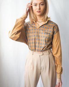 Burberry, vintage burberry, vintage Vintage Boutique, Instagram Shop, Head To Toe, Baby Dolls, Vintage Ladies, Burberry, Bell Sleeve Top, Women Wear, Stockings