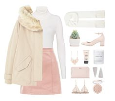 """""""Pink Leather Skirt"""" by hiddlescat ❤ liked on Polyvore featuring Hallhuber, New Look, MANGO, Joseph, Full Tilt, Byredo, Ted Baker, Laura Ashley, tarte and pastel"""