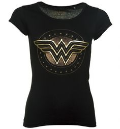 Give you outfit the POW-factor in this official Wonder Woman tee! Along with the logo you will find a dazzling array of golden studs, giving it a premium look and feel!