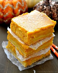 Pin for Later: 25 Recipes That Start With a Box of Cake Mix Pumpkin GooeyBars Get the recipe: pumpkin gooey bars.