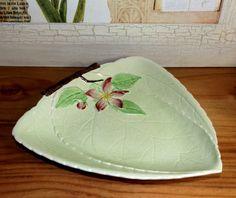 ** Carlton Ware Apple Blossom Green Dish