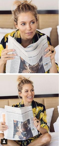 Who made  Sienna Miller's yellow tulip top and shorts?