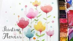 [LVL2] Painting Easy Simple Flowers, Watercolor painting for beginners