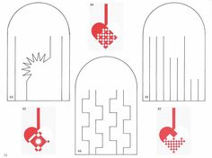 "Designs for Danish paper hearts from the classic book ""How my Mother Taught me to Weave Hearts"""