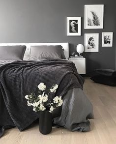 Black And Gray. The Gorgeous Bedroom Of @palettenoir, Menu JWDA Concrete  Lamp Available At Www.istome.co.uk