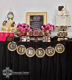 Bella Fiore Decoração de Eventos: Festa Rosa, Dourado e Preto