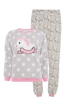 Primark - Grey Unicorn Print Jumper Leggings