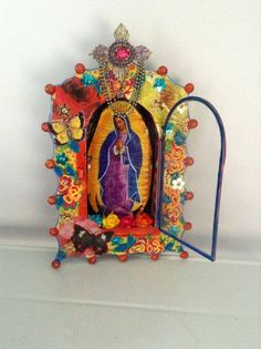mexican shadow box | Virgin Mary Mexican tin nicho / shadow box by TheVirginRose