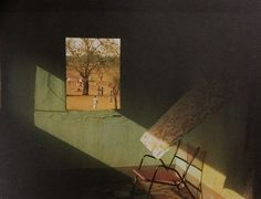 Harry Gruyaert: terrace of a hotel. gao, mali. 1988.