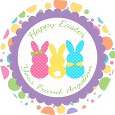 Easter Bunny Tag, Printable decoration.
