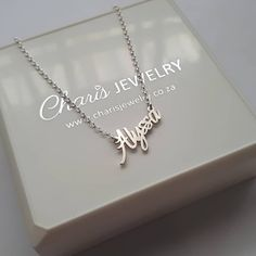 Charis Jewelry Store South Africa Personalized Name Necklace & Jewelry Nomination Bracelet, Jewelry Gifts, Jewelry Necklaces, Ankle Chain, Floating Lockets, Custom Name Necklace, Necklace Online, Toe Rings, Online Gifts