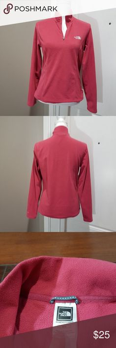 Women's pink The North Face quarter zip fleece, M Women's pink North Face quarter zip fleece.   Size medium. The North Face Tops