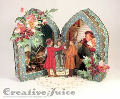 Lisa Hoel - Art with Heart October Challenge with Graphic 45's A Christmas Carol Collection and Eileen Hull's make it 3-D die; Oct 2015  #graphic45 #eileenhull #christmas