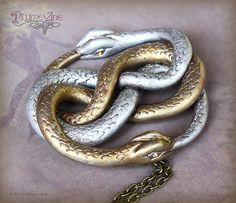 Infinity snake pendant