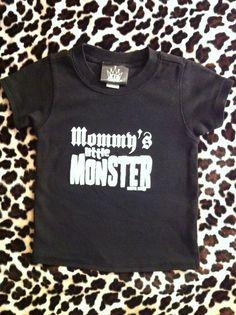 Infant Mommy's Little Monster Black Tee