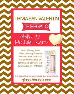 HOY LES REGALO GLAM DE MICHAEL KORS... TODO MEXICO PUEDE PARTICIPAR Deja un comentario sobre el look Glam de MK que subí esta semana al blog. Eligiré uno aleatoriamente y la ganadora se anunciará por este medio.  http://www.gloss-boudoir.com/2014/02/maquillaje-san-valentin-3-looks-michael.html