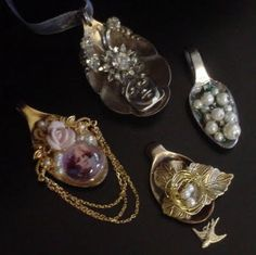 Gingersnap Creations: Collage Jewelry: Altered Spoon Tutorial by Lynn Stevens