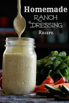 Homemade Ranch Dressing without all the yuck.