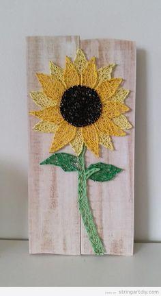 Sunflower String Art DIY