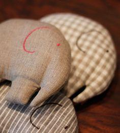 Next tiny sewing project. Tiny elephants.