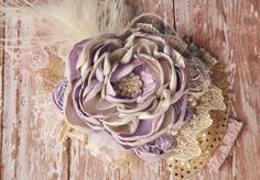 Lavender In Love-Mustard Pie-WDW-  headband-Lavender spring 2014 -photo prop-vintage-shabby chic-all sizes-color of the year on Etsy, $31.99