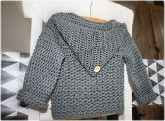 70 ideas baby boy crochet cardigan link for 2019 Crochet Baby Sweater Pattern, Baby Sweater Patterns, Crochet Cardigan, Baby Patterns, Crochet Bebe, Crochet Baby Clothes, Crochet For Boys, Boy Crochet, Toddler Dress