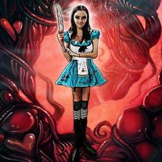 This weekend my friend Jill dressed up as American McGee's Alice from the old PC game of the same name.