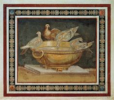 The Doves of Pliny by Sosos.  Photo Courtesy of The Capitoline Museum