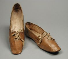 Pair of Woman's Slippers United States, circa 1830