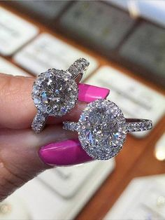 Engagement ring and wedding rings from Jean Pierre Jewelers 23
