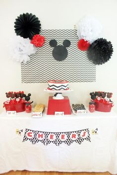Vintage Mickey Mouse Party with Lots of Great Ideas via Kara's Party Ideas   KarasPartyIdeas.com #MickeyMouseParty #PartyIdeas #Supplies (37)
