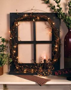 Old window frame made into something beautiful!
