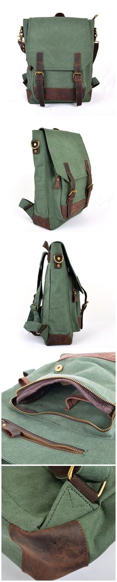 Canvas Backpack Vintage Backpack Canvas Shoulder Bag