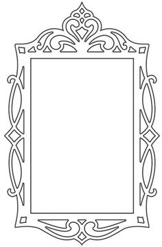 scroll saw projects free pattern Picture Frame Template, Stencils, Cnc Cutting Design, Diy And Crafts, Paper Crafts, Leather Carving, Vinyl Paper, Scroll Saw Patterns, Cross Patterns