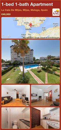 Apartment for Sale in La Cala De Mijas, Mijas, Malaga, Spain with 1 bedroom, 1 bathroom - A Spanish Life Murcia, Malaga Spain, Studio Room, Built In Wardrobe, Walk In Shower, Apartments For Sale, Studio Apartment, Terrace, Golf Courses