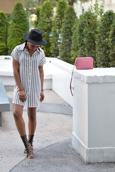 striped-dress-gladiator-sandals-hats