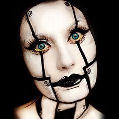 steampunk robot makeup - Google Search