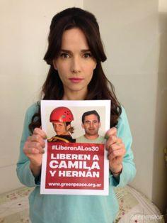 Natalia Oreiro también se sumó a la campaña para liberar a los 30 defensores del Ártico. © Greenpeace / Katz