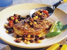 Spicy Mexican Skillet Chicken - Folic acid is important for a healthy pregnancy. This skillet dish provides and excellent source of folic acid.