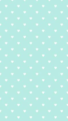 •Little blue hearts classy phone wallpaper •