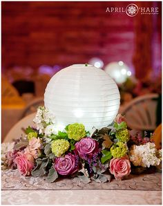 paper lantern table centerpieces