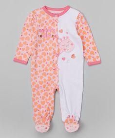 Look at this #zulilyfind! Pink & White 'Daddy's Girl' Footie - Infant by Buster Brown #zulilyfinds