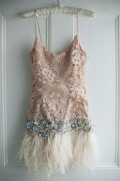 Bespoke Matthew Williamson Feathered Dress