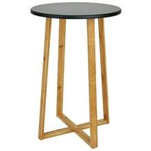 Habitat Drew Tall Side Table Bamboo Tall Side Table Table Black Side Table