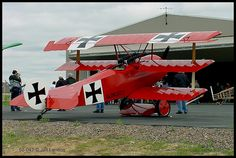 The Fokker DR.I (replica), the most famous plane flown by the Red Baron.