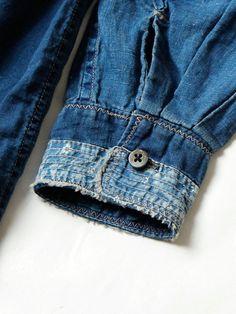 WEB SHOP - KAPITAL Denim Outfit, Denim Shirt, Denim Ideas, Vintage Denim, Shibori, Denim Fashion, Pulls, Jeans Style, Vintage Outfits